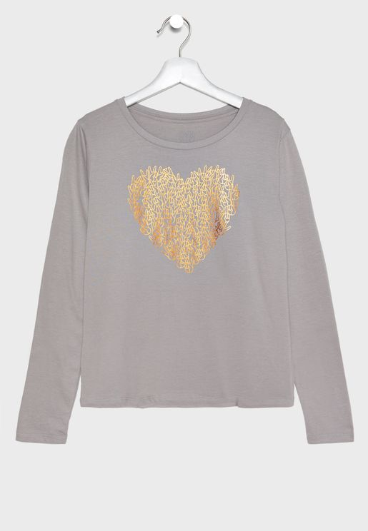 Kids Heart Graphic T-Shirt