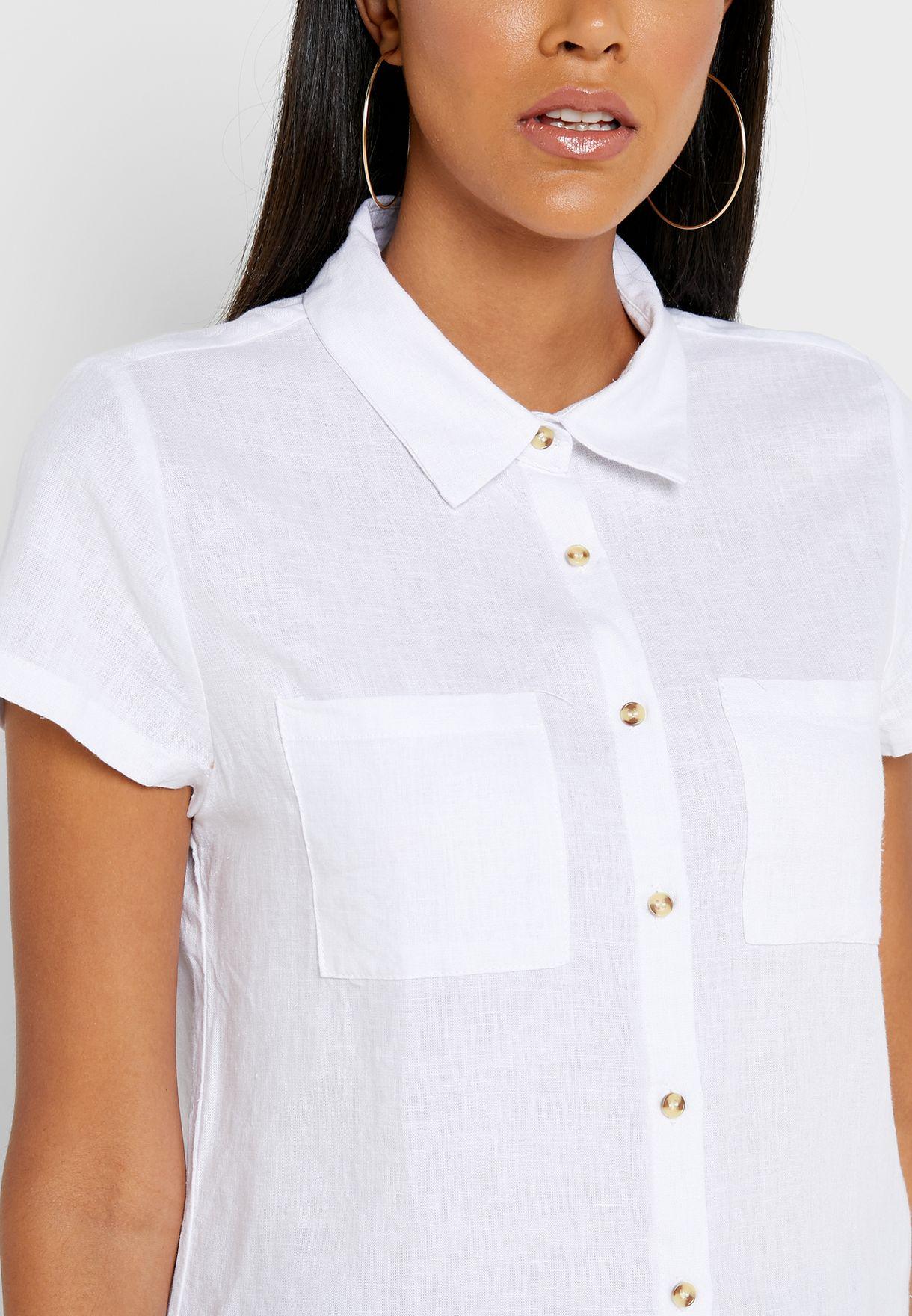 Front Pocket Short Sleeve Shirt