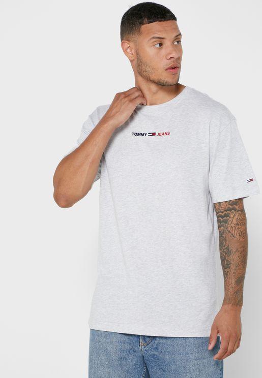 Linear Logo Crew Neck T-Shirt