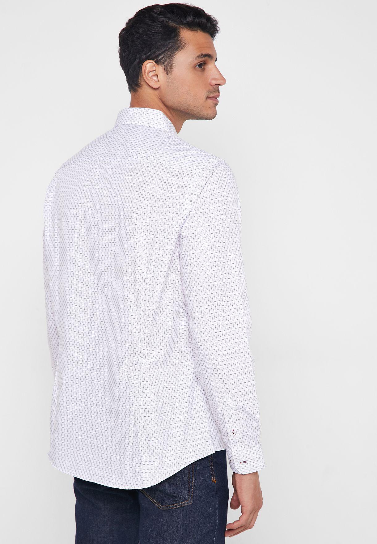 Diamond Print Slim Fit Shirt