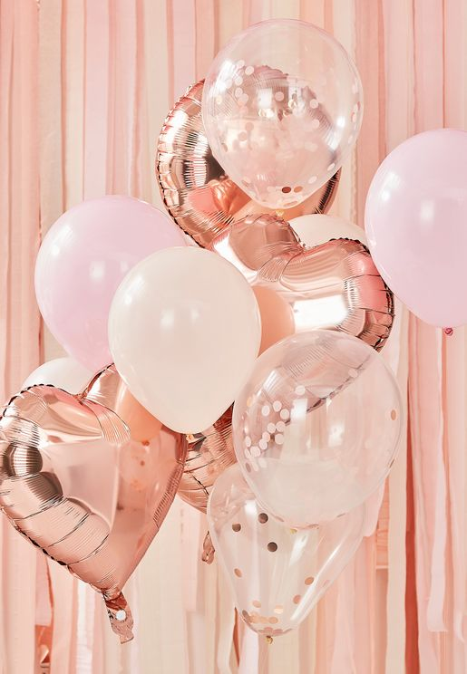 Rose Gold And Blush Balloon Bundle