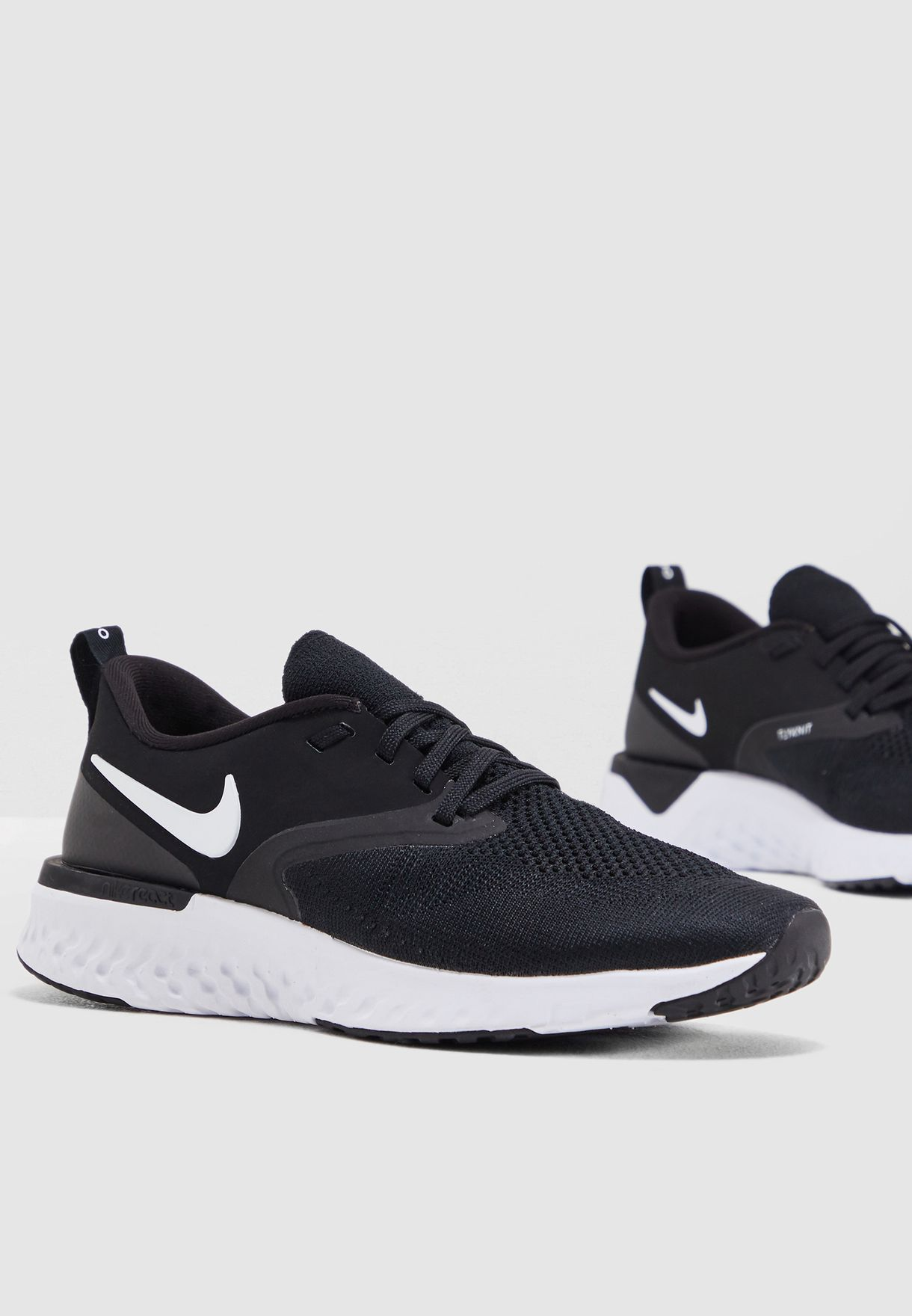 ea98eed09a6ca Shop Nike black Odyssey React 2 Flyknit AH1016-010 for Women in UAE ...