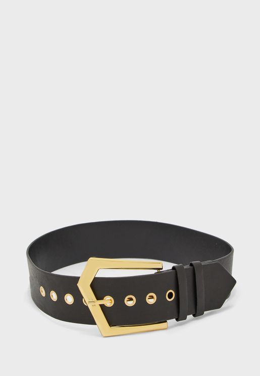 Gold Triangular Buckle Belt