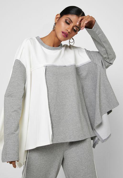 Colorblock Oversized Sweatshirt
