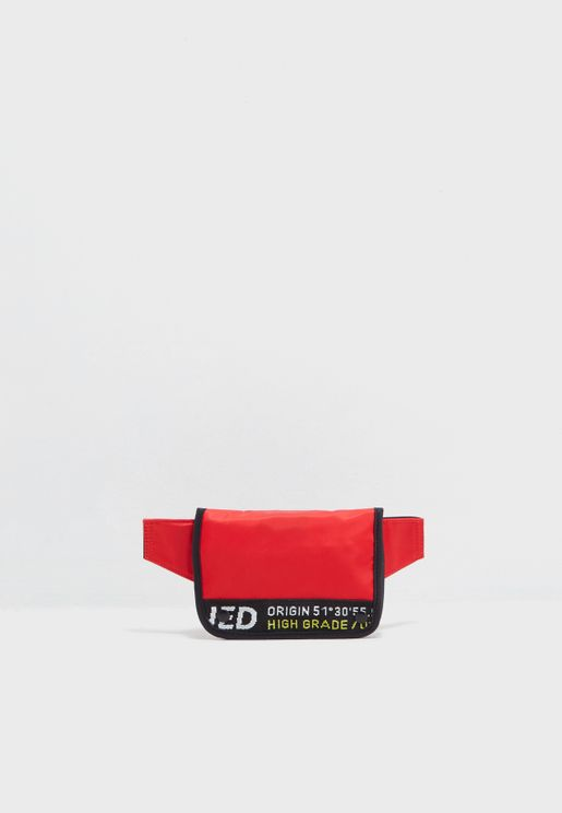 Mini Text Crossbody Bag