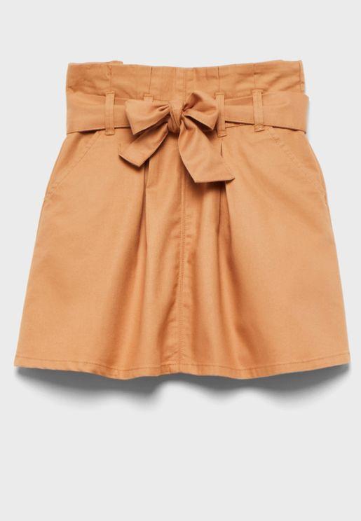 Kids Bow Detail Skirt