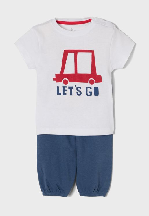 Infant Let's Go Pyjama Set