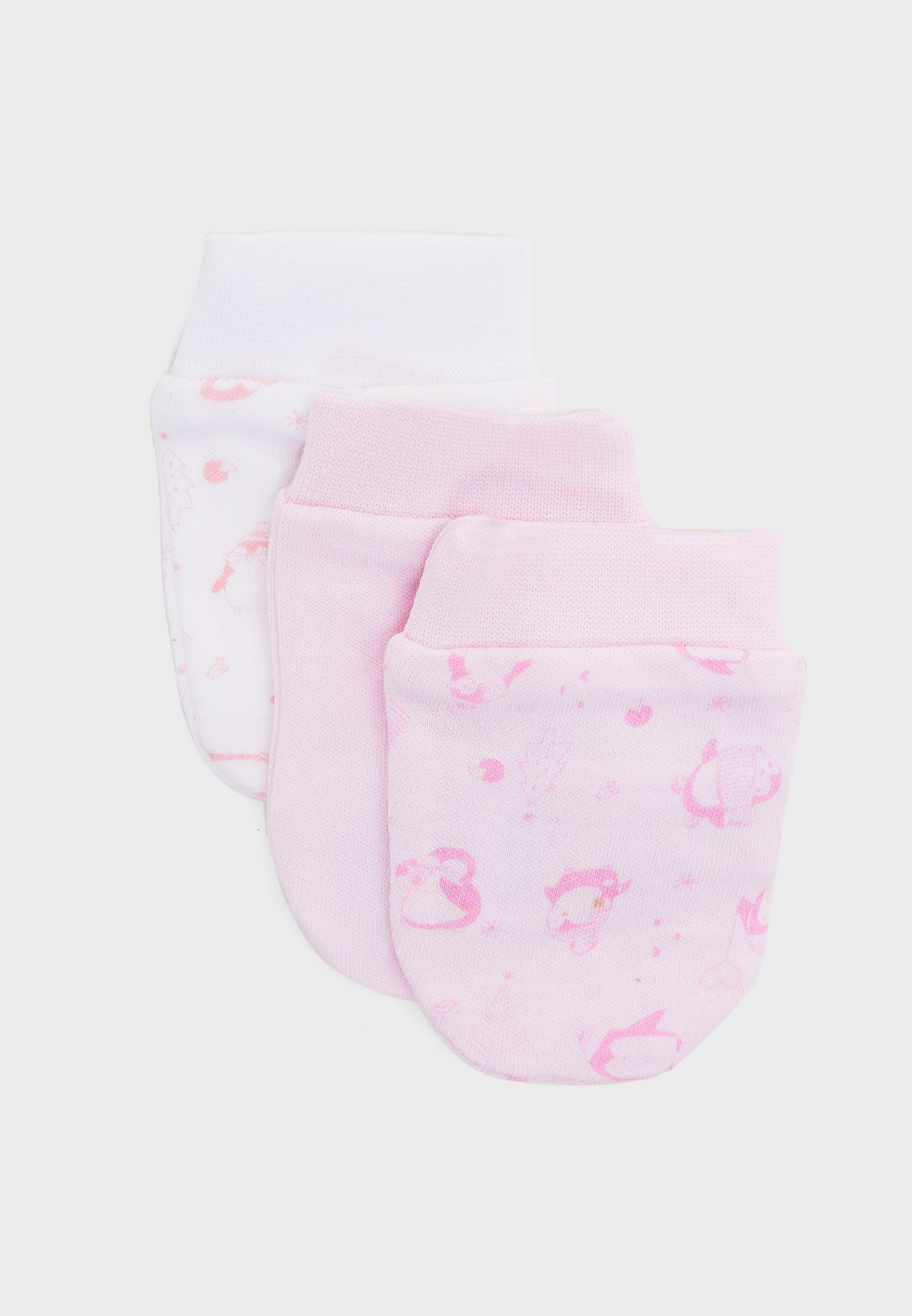 Infant 3 Pack Mittens