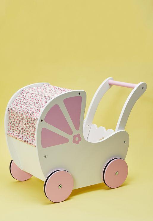 لعبة عربة اطفال خشبية