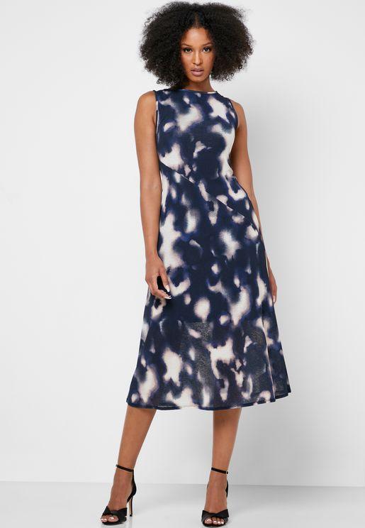 Tie Dye Sleeveless Dress