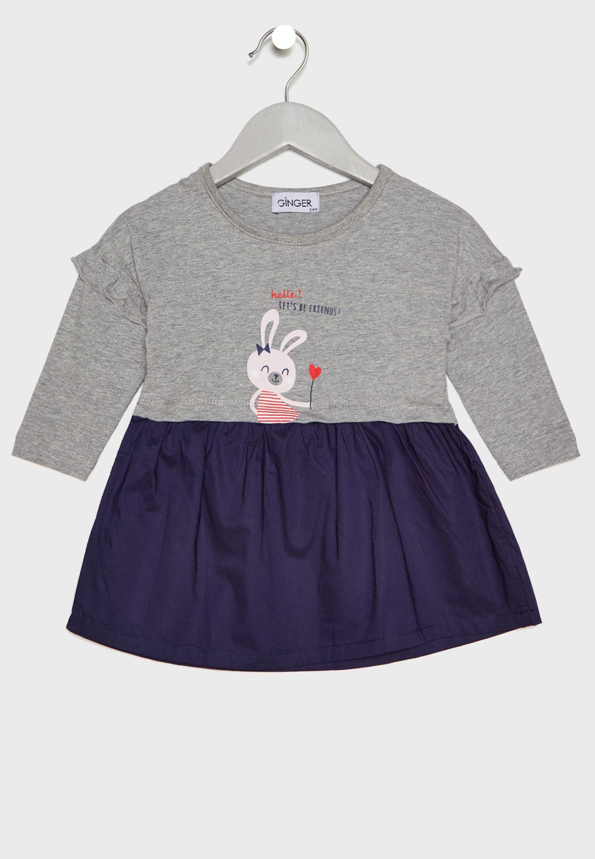 ec126959b5ae4 Shop Little Ginger multicolor Printed Dress Kid1263 for Kids in UAE -  17736AT35SDP