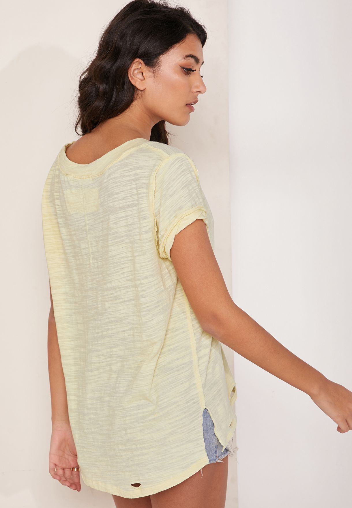 Sundance V-Neck Textured T-Shirt