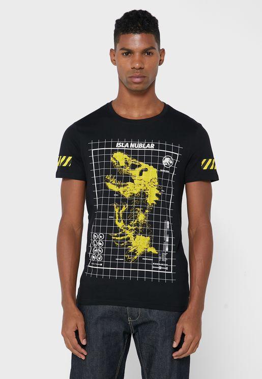 Jurassic Park Crew Neck T-Shirt