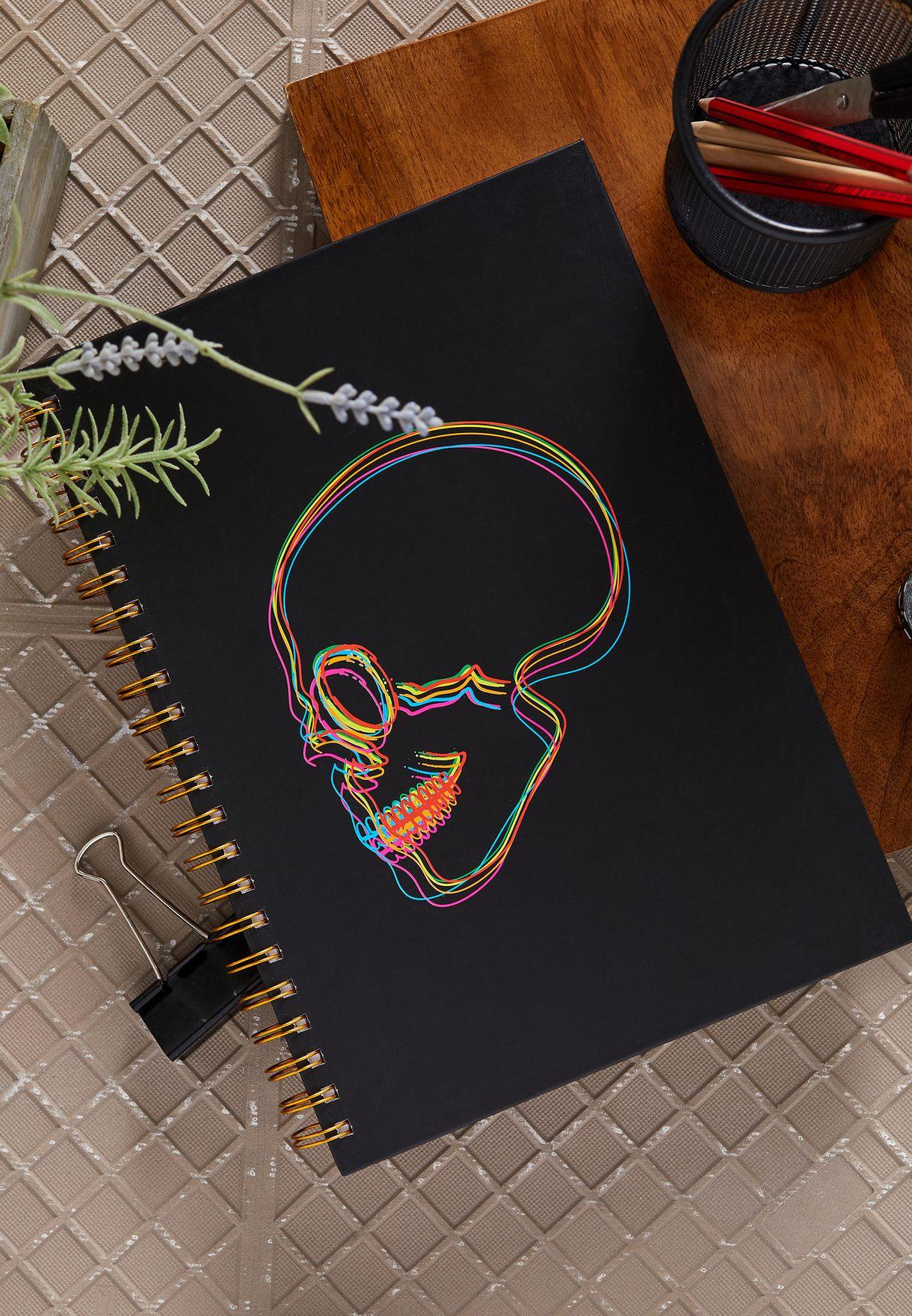 A4 Skull Notebook