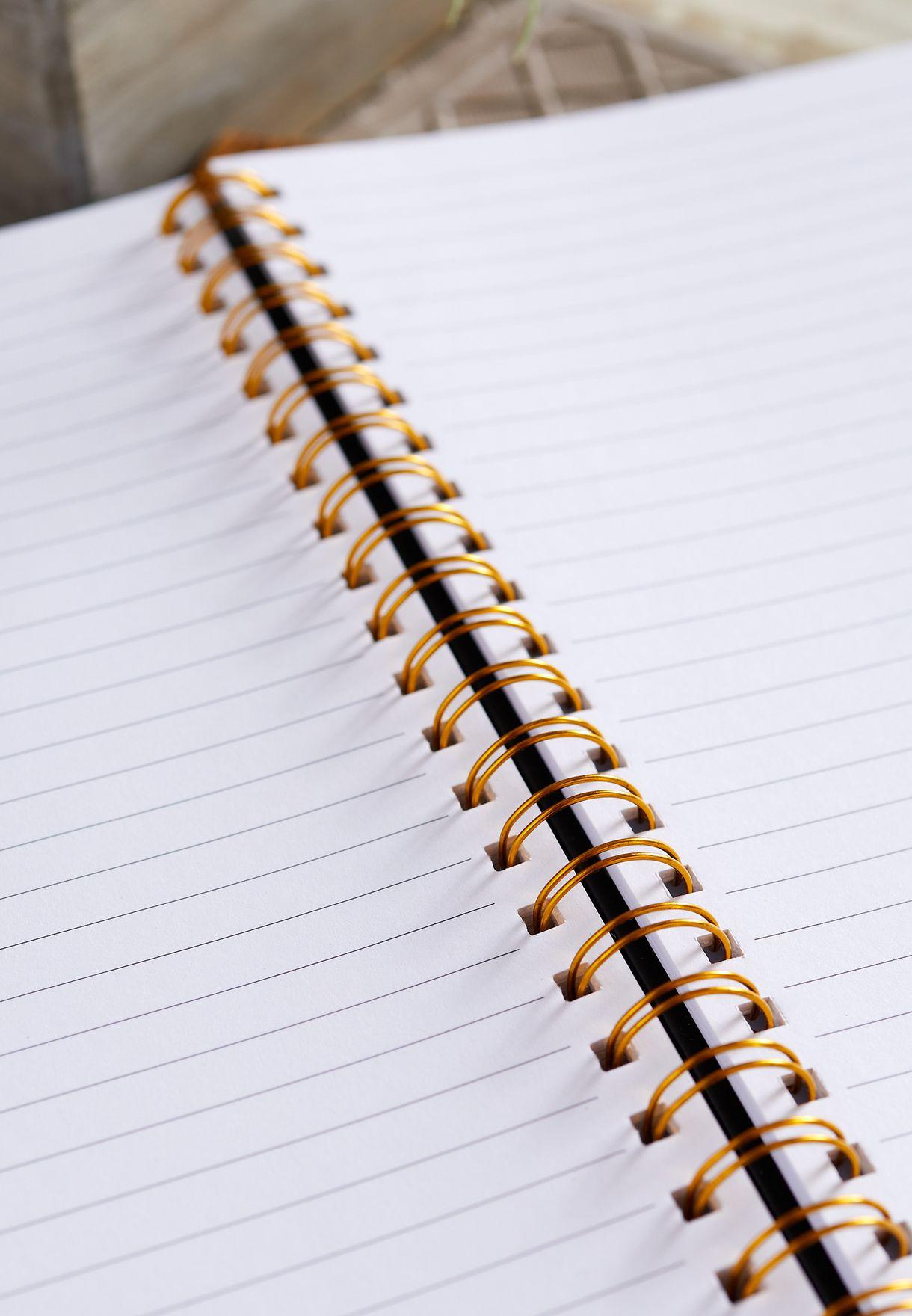 دفتر ملاحظات A4 بطباعة جمجمة