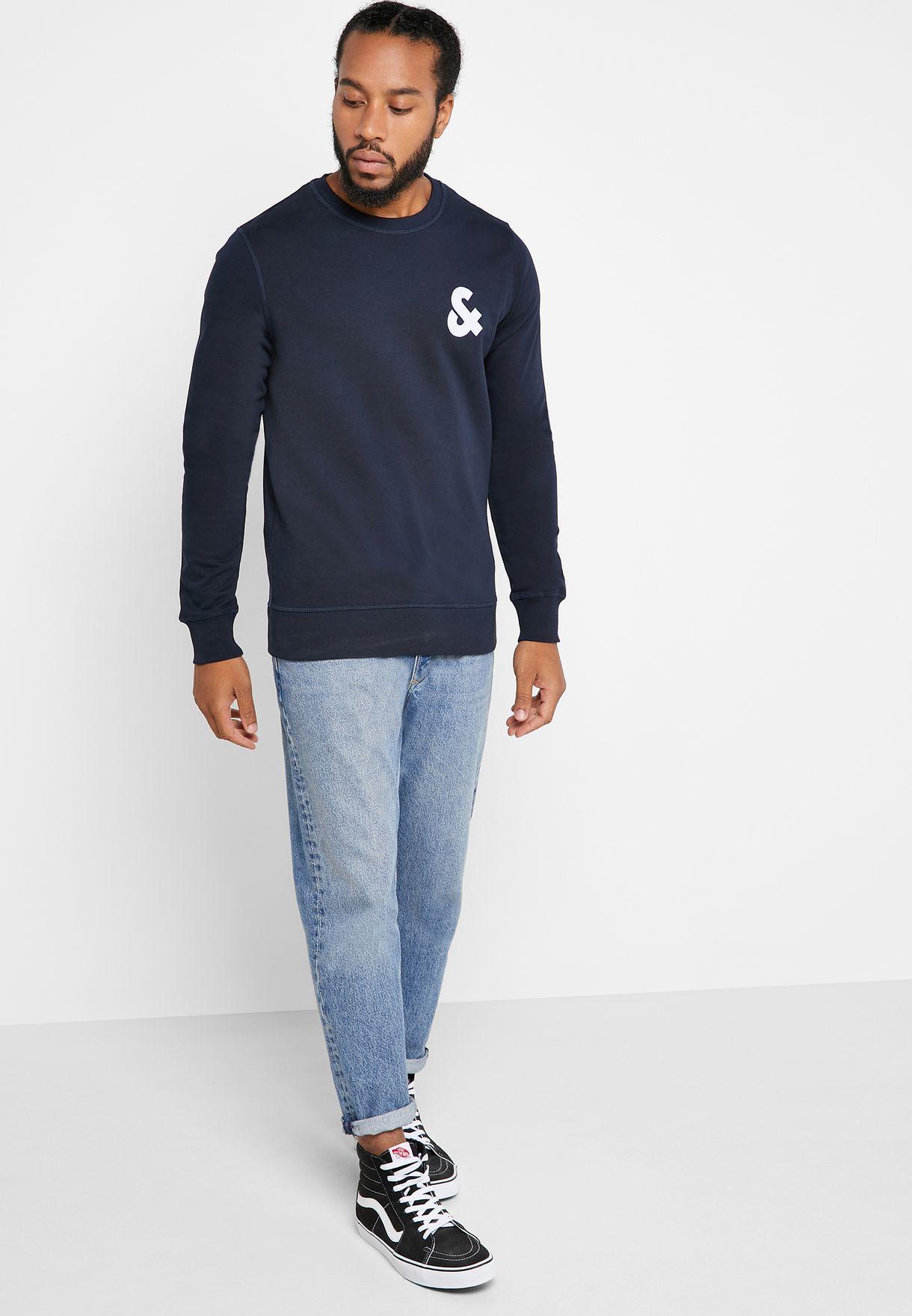 Chest Logo Regular Fit Sweatshirt