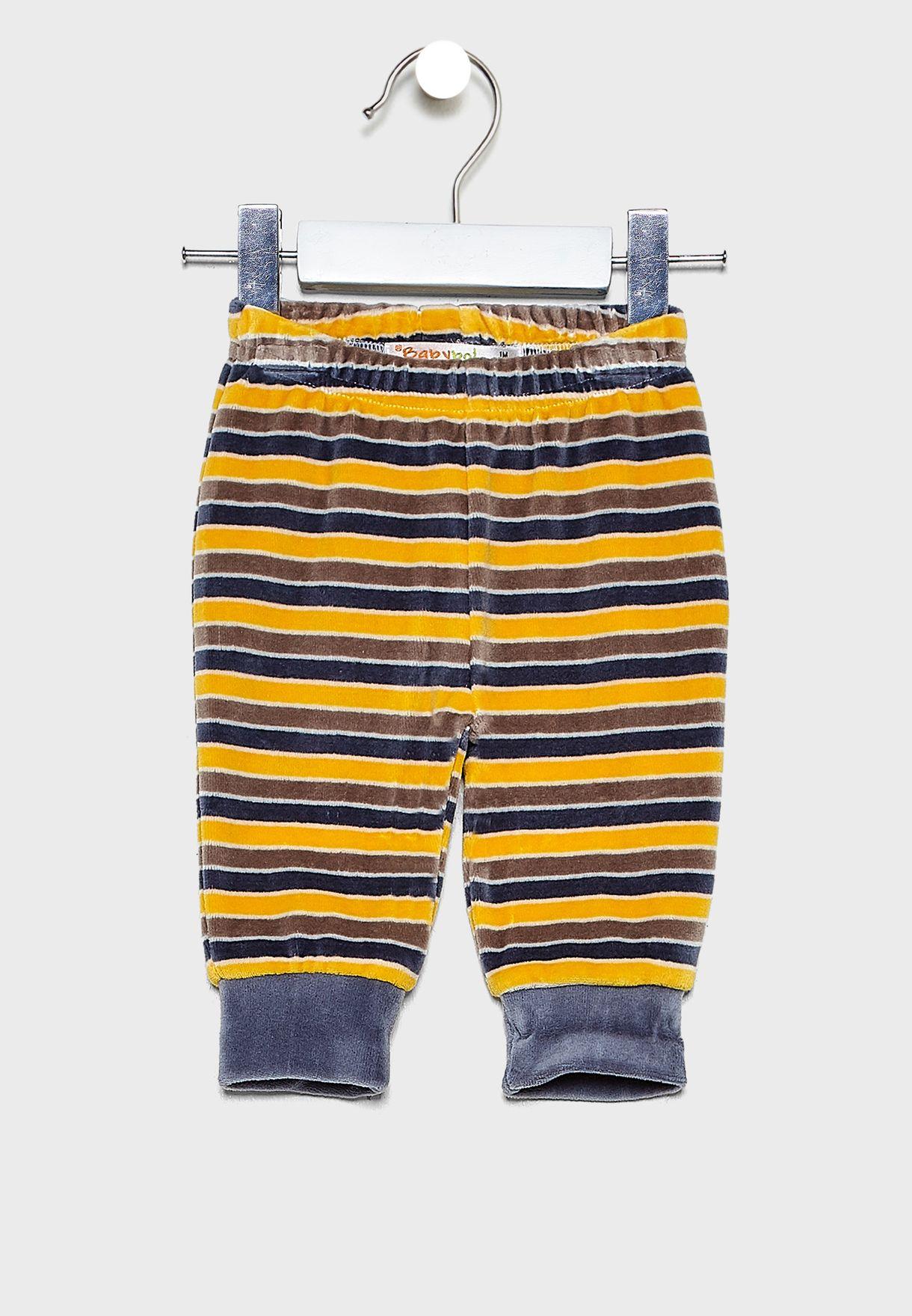 Infant 3 Piece Striped Gift Set