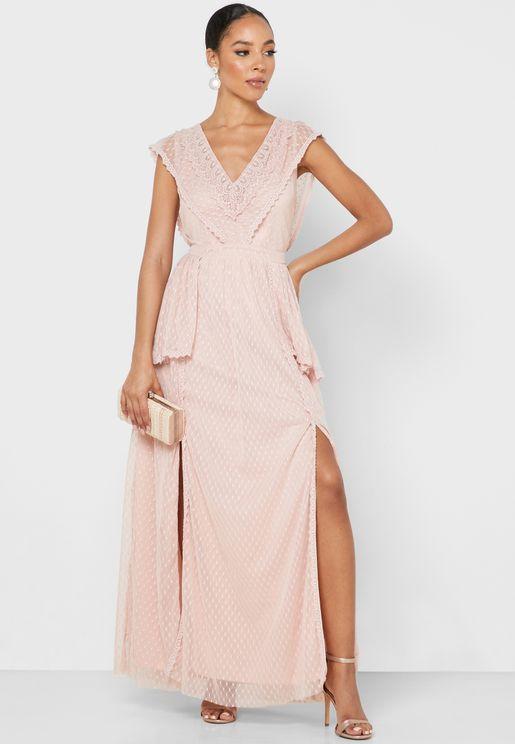 فستان ببطانة داخلية