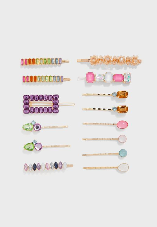 Kids Sparkle Mix Multipack Hair Clips