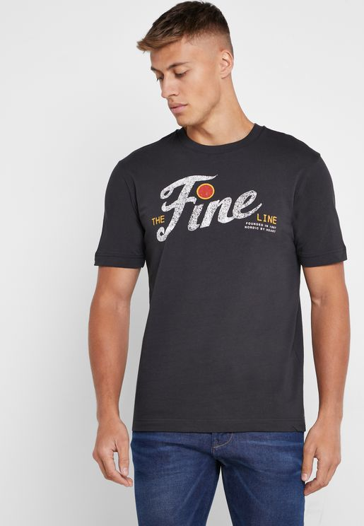 The Fine Line Crew Neck T-Shirt