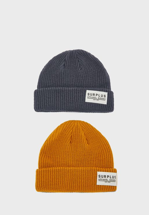 Little 2 Pack Knitted Beanie