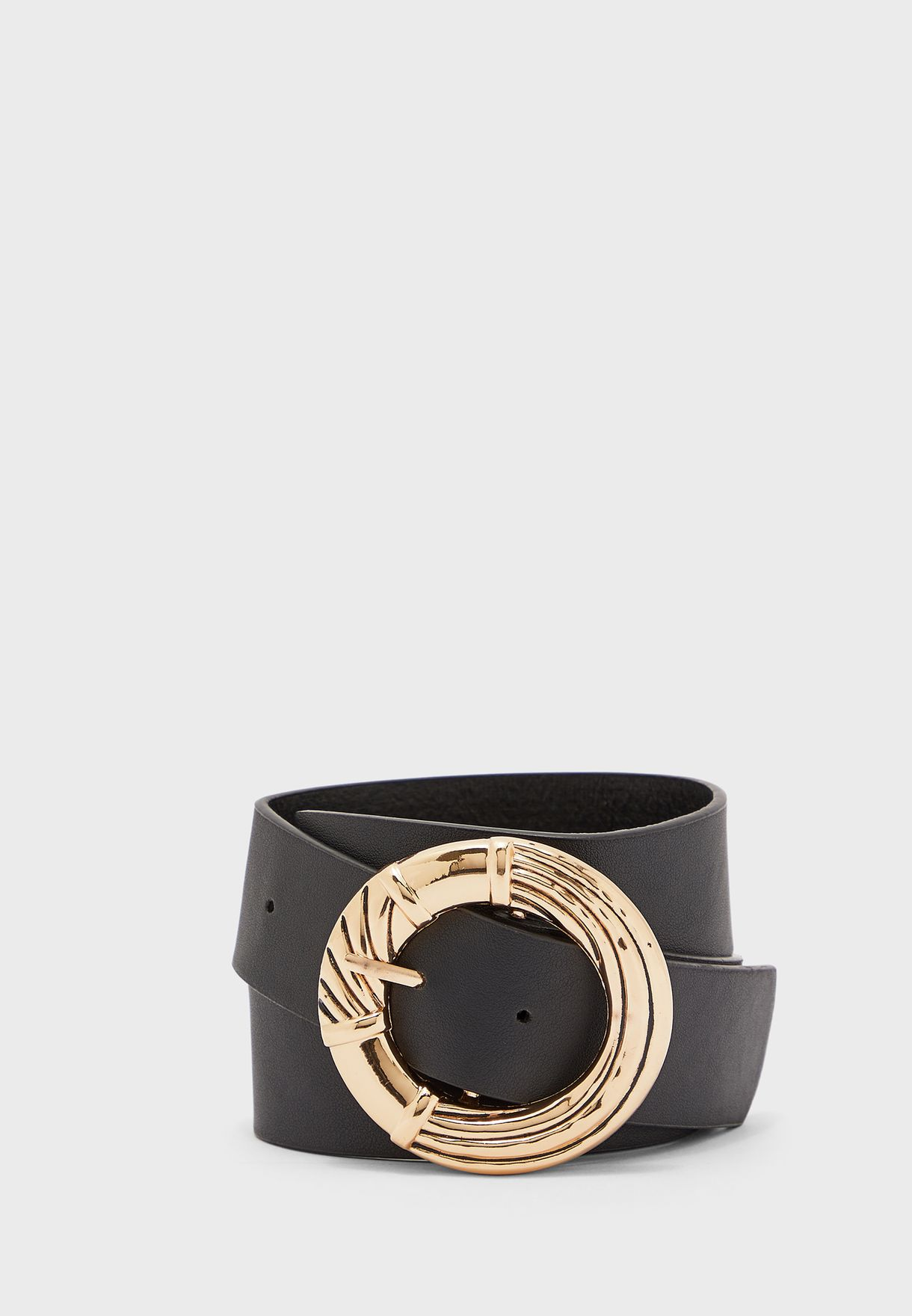 Bamboo Circle Buckle Belt