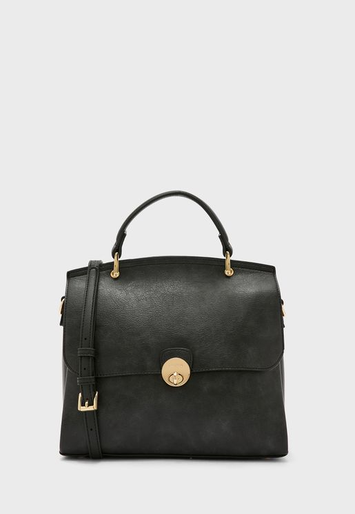 Flap Detail Satchel