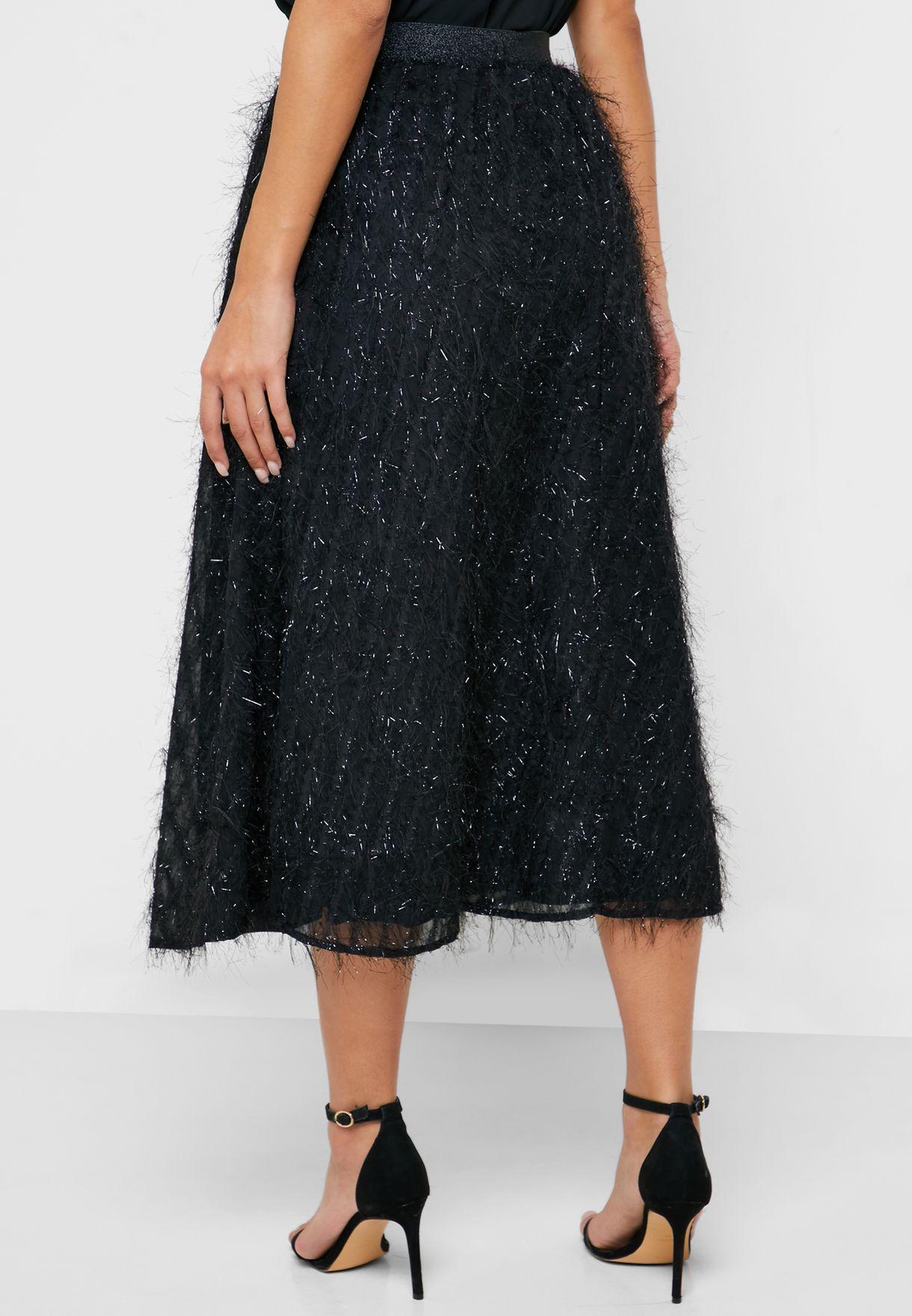 Fringe Midi Skirt