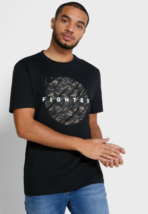 Fighter Crew Neck T-Shirt