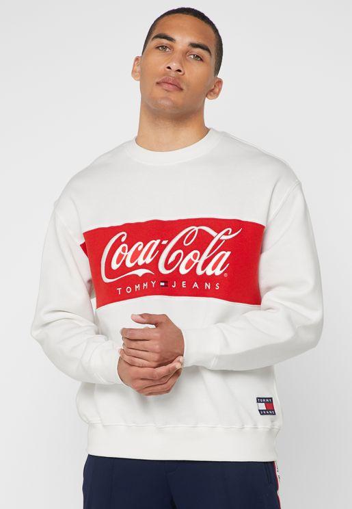 Coca Cola Logo Print Sweatshirt