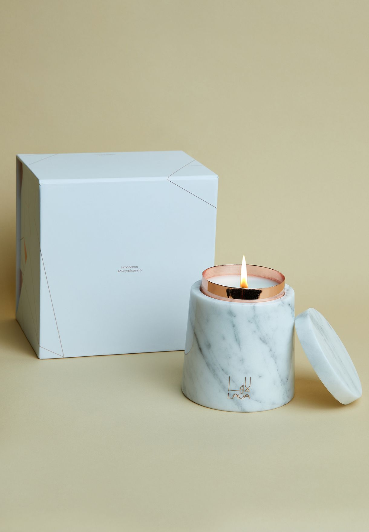 Oud Rose Candle With Marble Holder