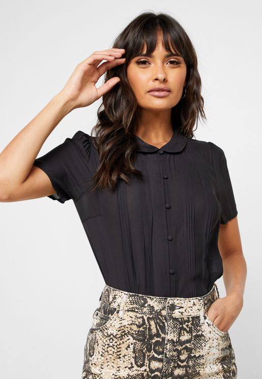 Pleated Front Shirt