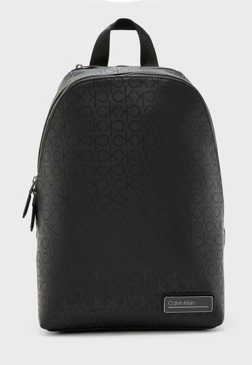 Industrial Monogram Printed Backpack