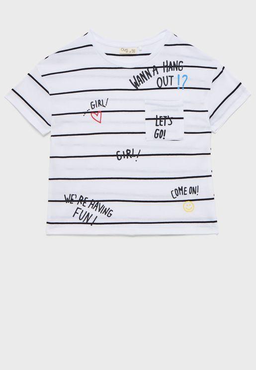 تيشيرت بخطوط للاطفال