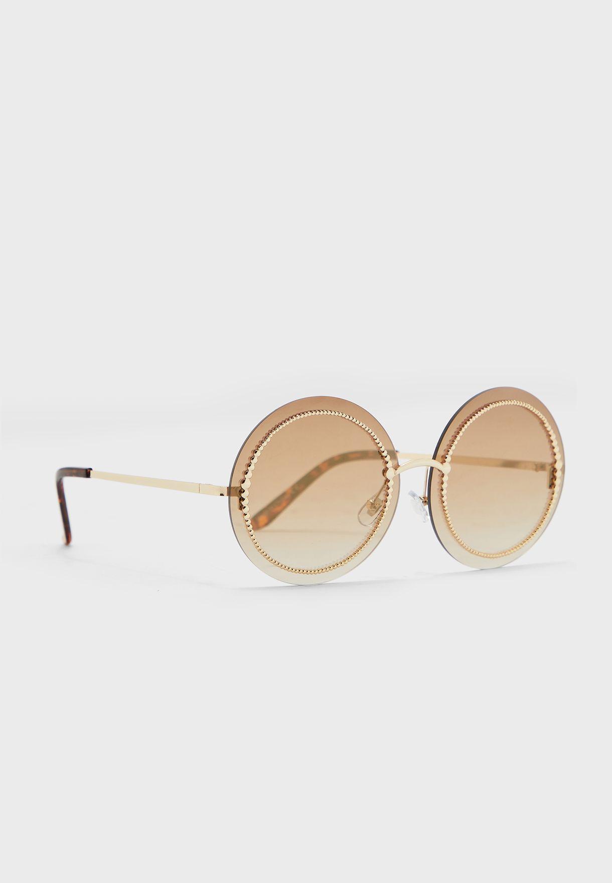 نظارة شمسية دائرية بأذرع رفيعة