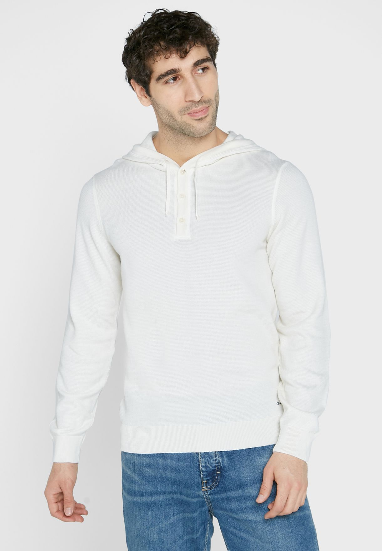 Knitted Hooded Sweater