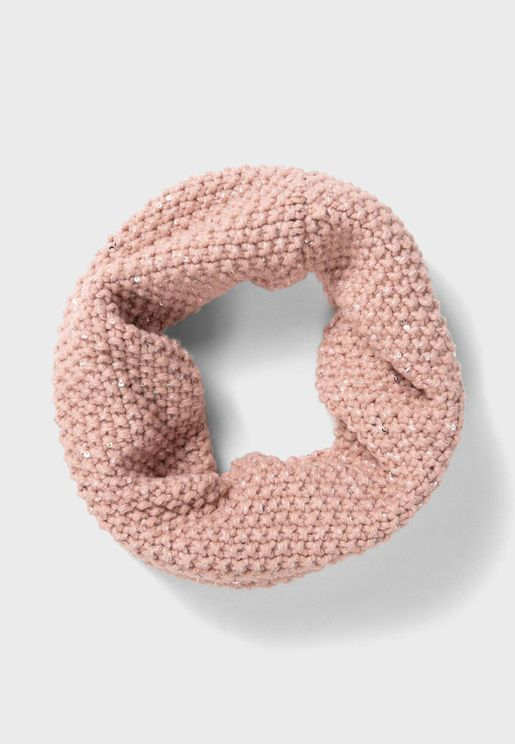 Kids Knitted Snood Scarf