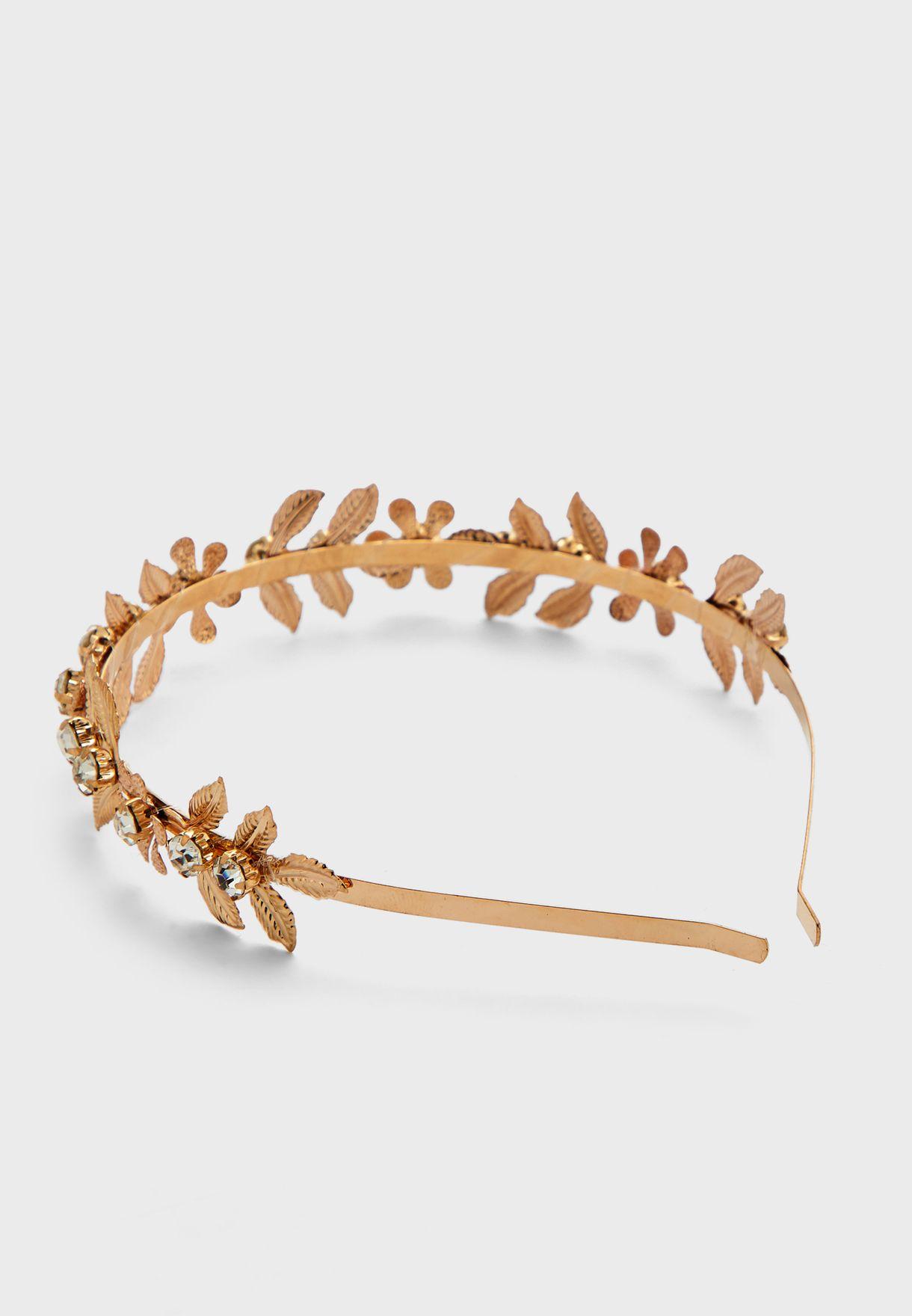 Metal Flower Headband