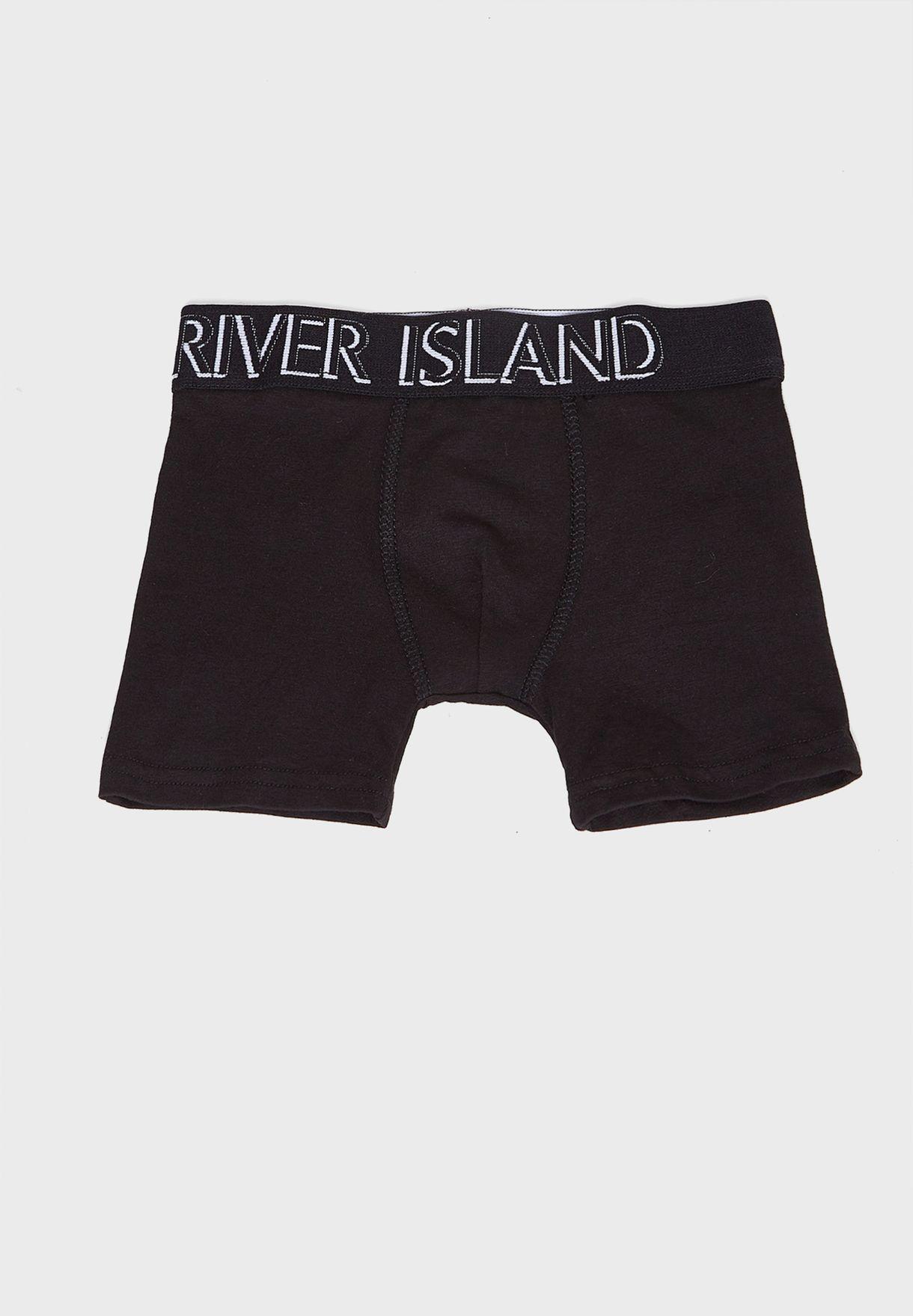 Kids 5 Pack Monogram Boxer Shorts