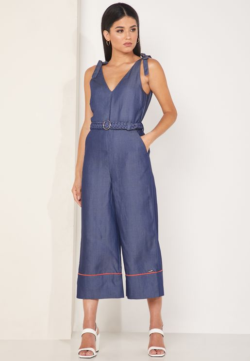 Pilco Tie Shoulder Jumpsuit