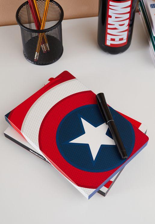 A5 Marvel Captain America'S Shield Flex Notebook