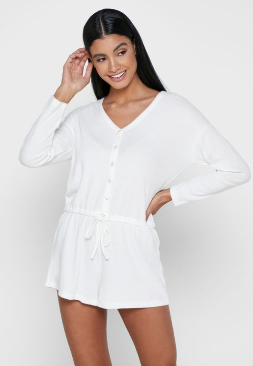 Lillie Lounge Ribbed Playsuit
