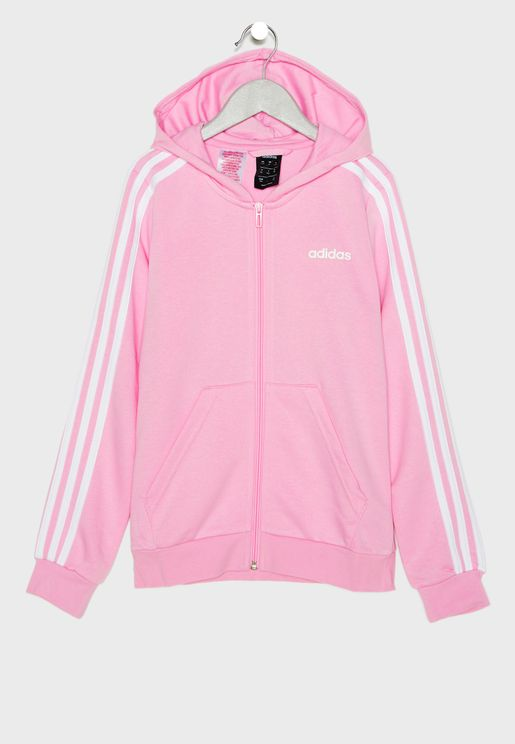 Youth Essential 3 Stripes Hoodie. adidas 37b7ebba80