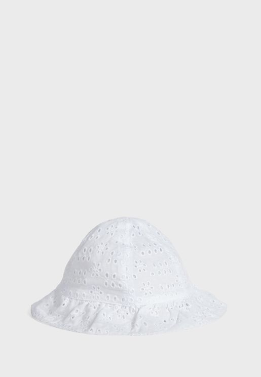 Kids Lace Detail Bucket Hat