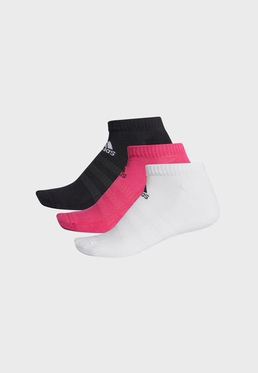 3 Pack Cushion Low Socks