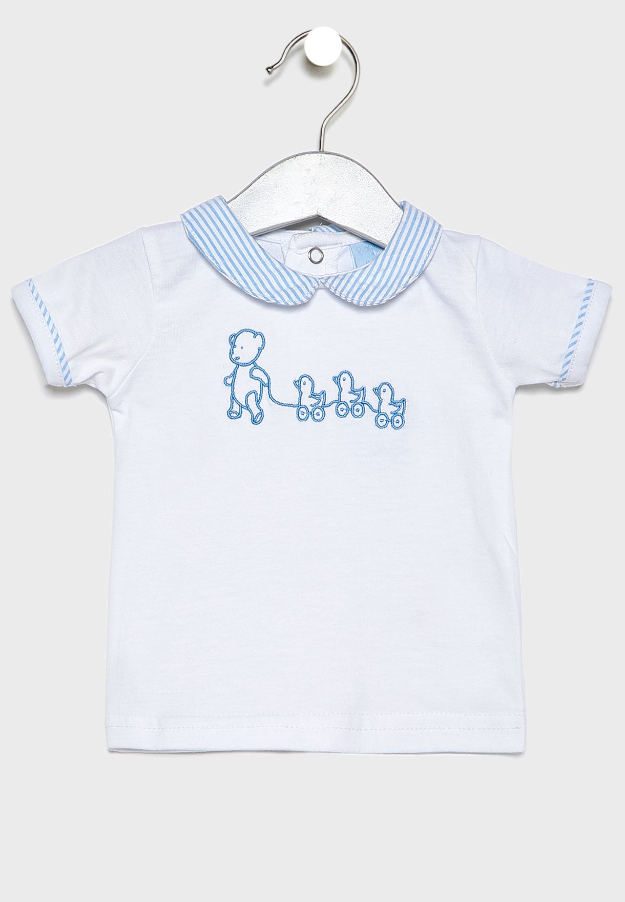 Infant Searsuker T-Shirt + Shorts Set