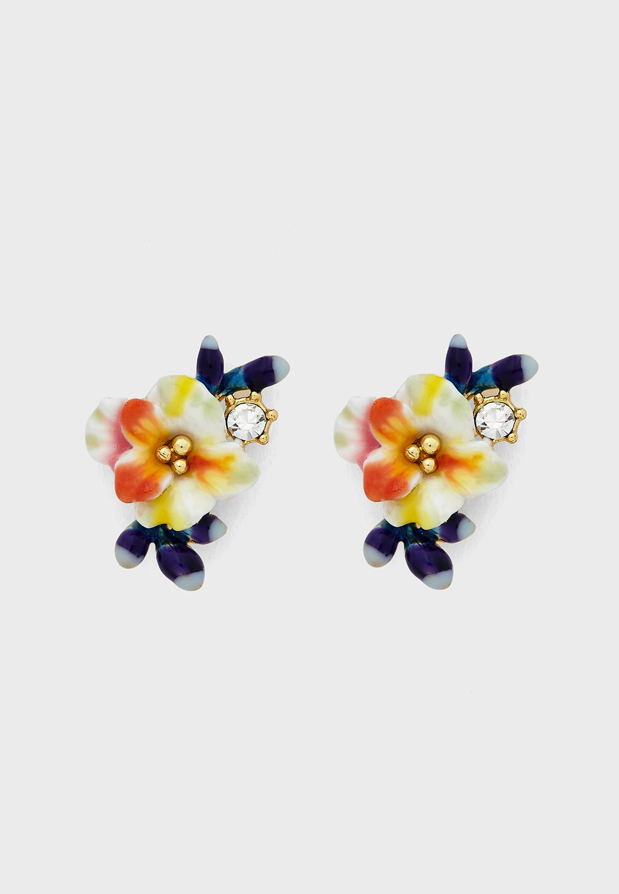 Flower And Buds Stud Earrings