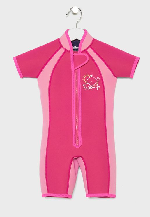 Kids Zip Detail Swimsuit