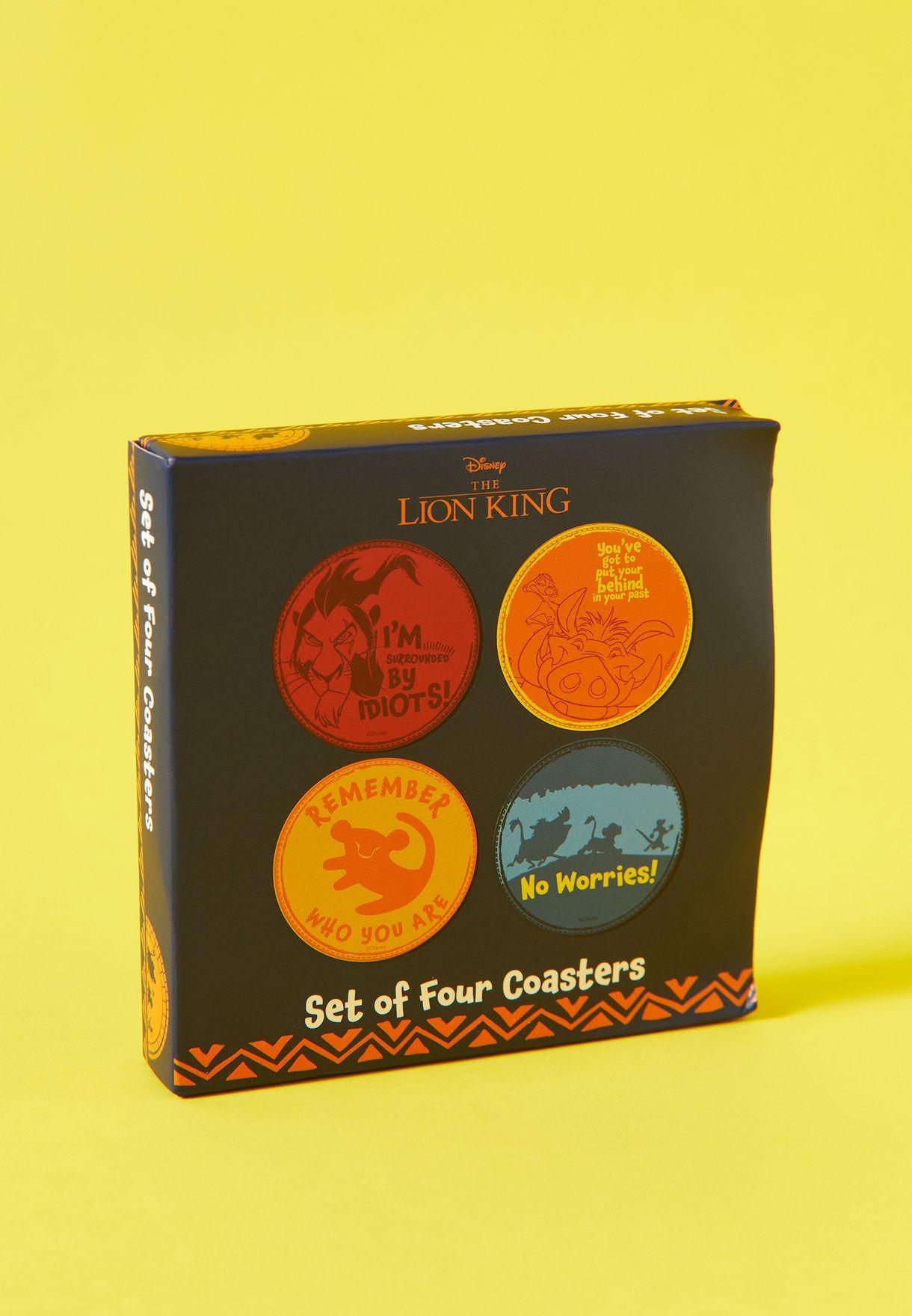 Disney The Lion King Set of 4 Coasters