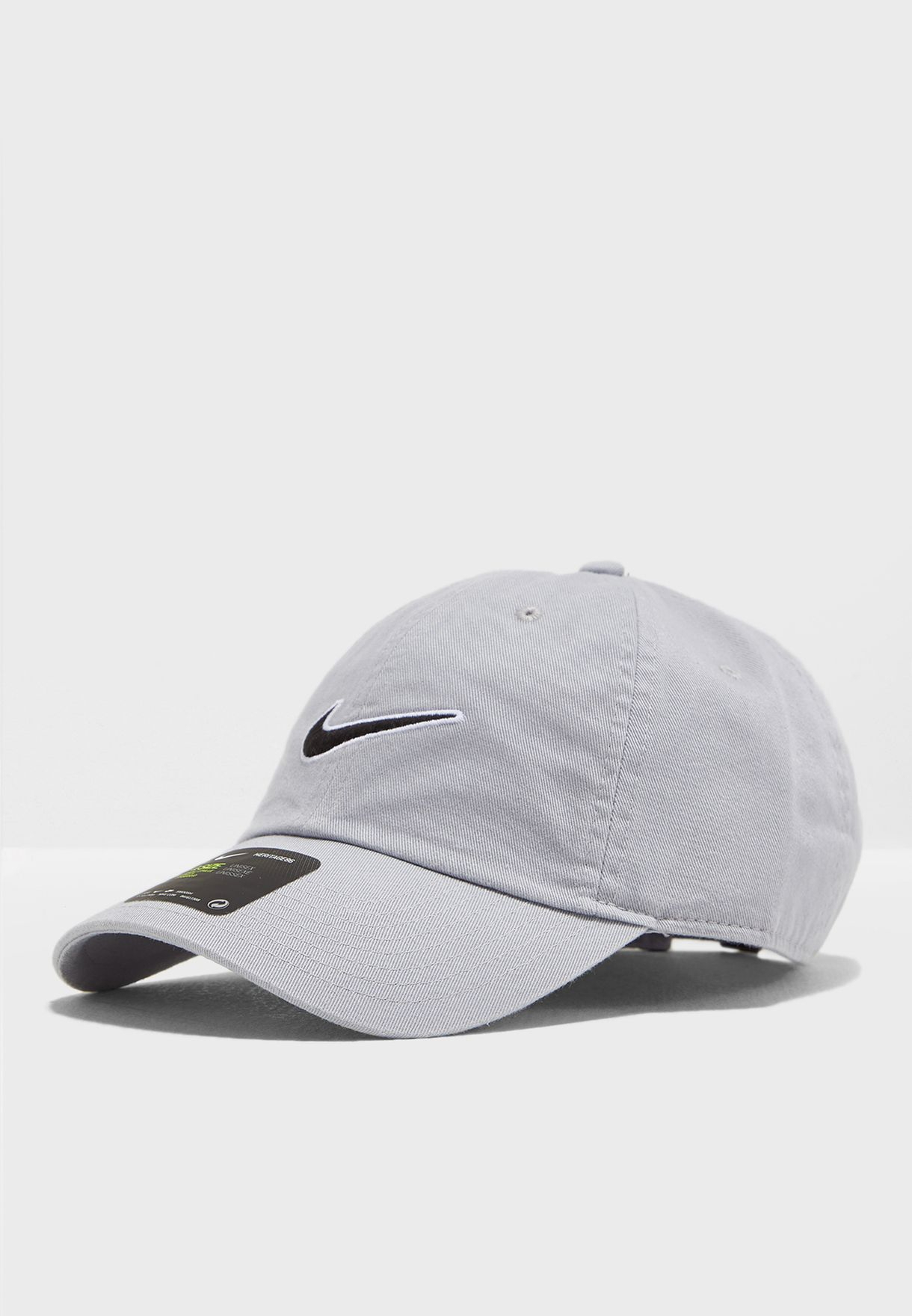 8945359b Shop Nike grey H86 Essential Swoosh Cap 943091-012 for Men in UAE ...